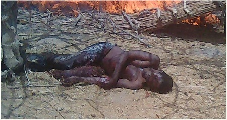 Boko Haram Dumping Pit Discovered by Army During Clearance Operation (Graphic Photos)