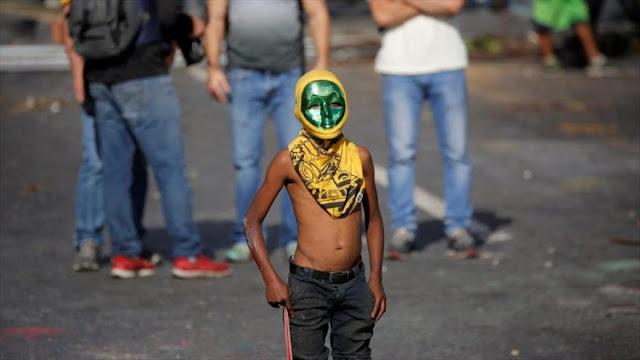 Venezuela: uso de niños en protestas es crimen de lesa humanidad