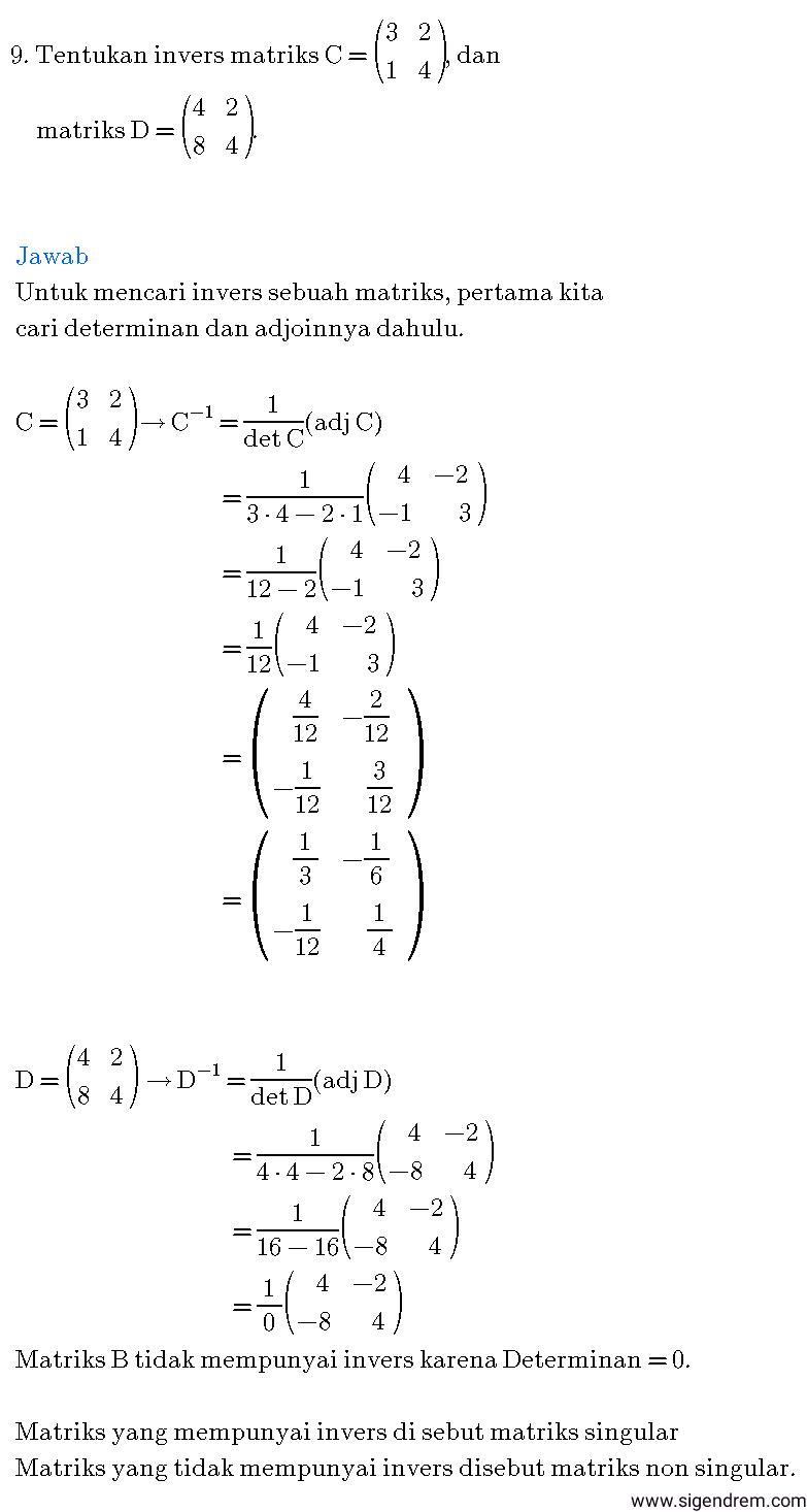 contoh soal dan pembahasan matrikscontoh soal dan pembahasan matriks