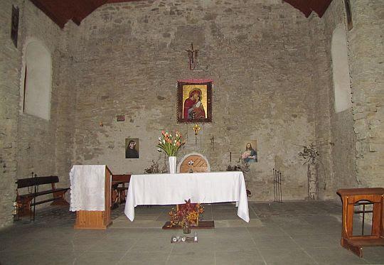 Ołtarz w cerkwi.