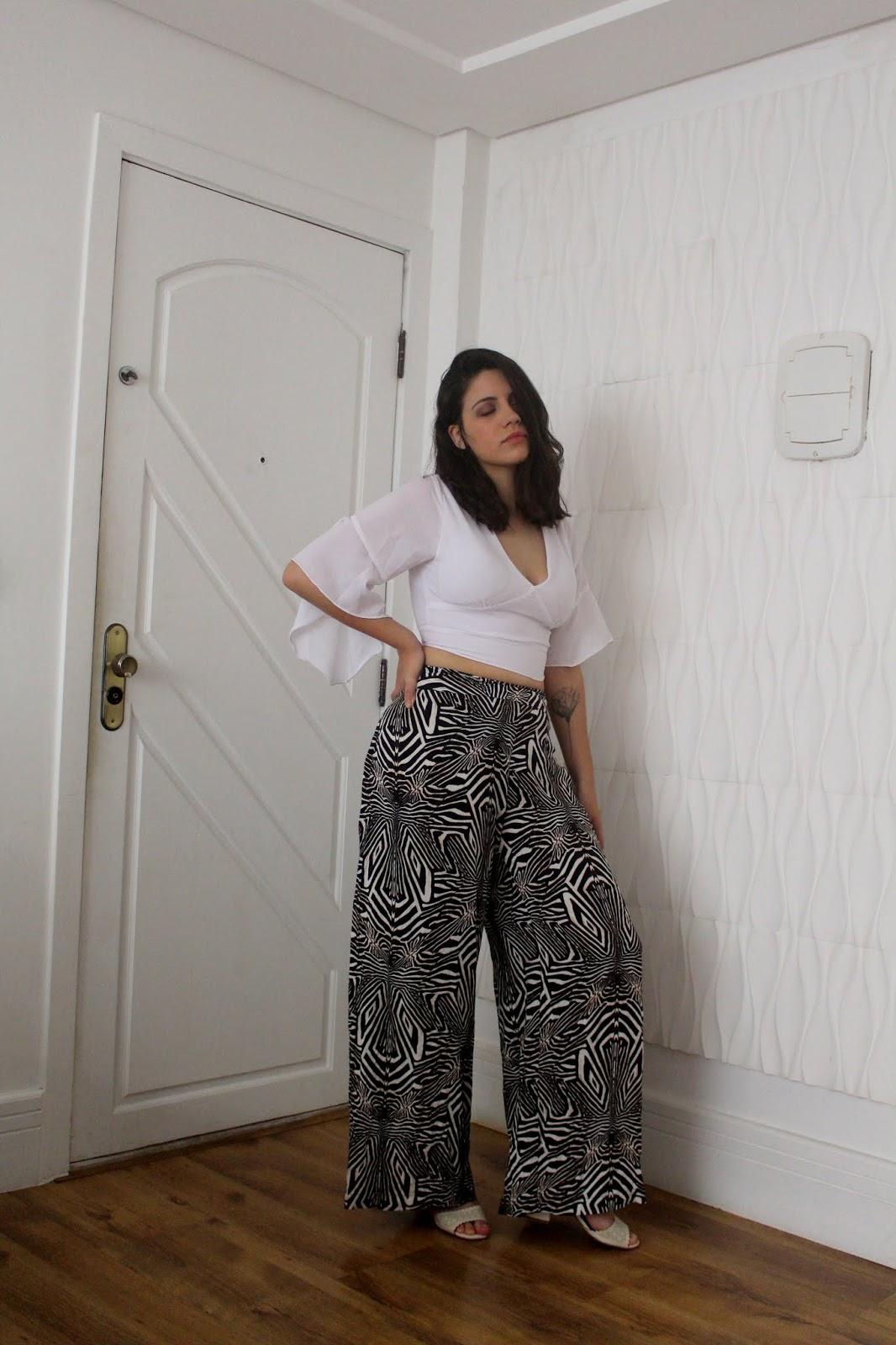 1peça3looks Pantalona animal print anadodia ana do dia como montar varios looks com uma peça