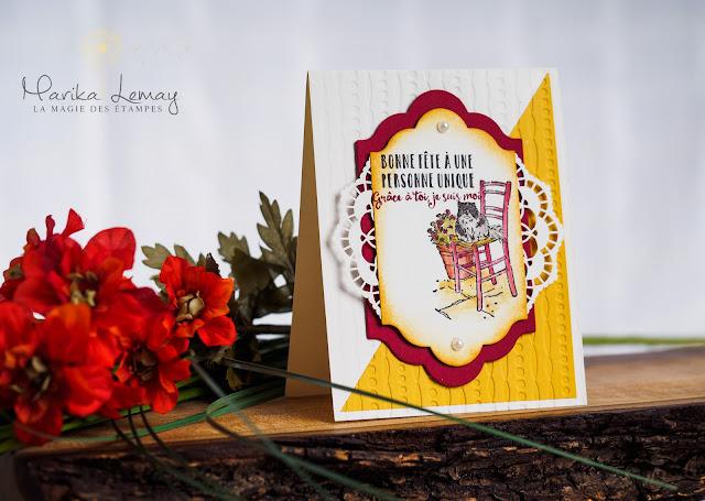 carte avec jeu Mediterranean moments stampinup
