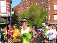 Runners at the Chicago Marathon in Chicago, Illinois