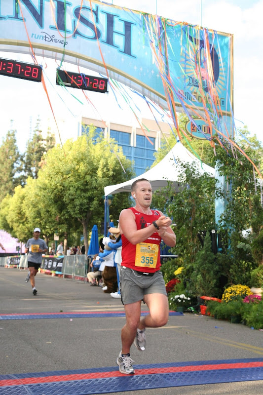 Jason Disneyland half marathon finish