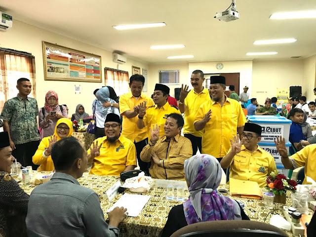 Daftar Caleg Ke KPU, Golkar Targetkan 20 Kursi DPRD Lampung
