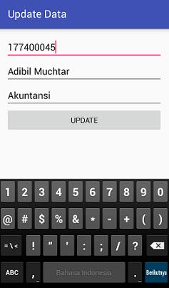 Screenshot_activity untuk memproses update data