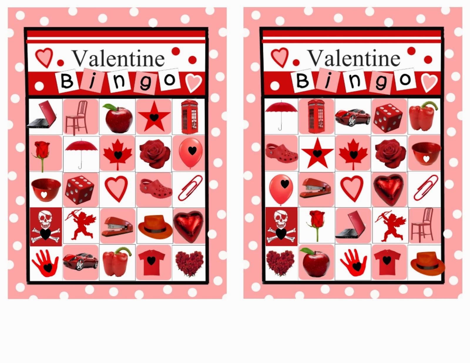 6 Cute Valentine S Day Bingo For Preschoolers