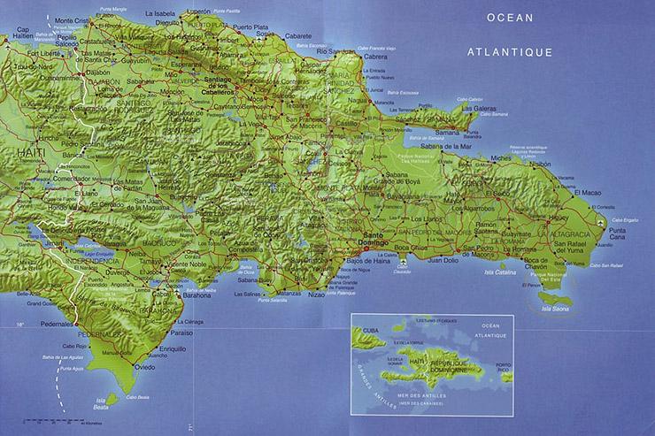 República Dominicana | Mapas Geográficos da República Dominicana