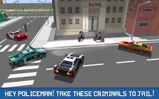 Blocky Police Driver: Criminal Transport Apk