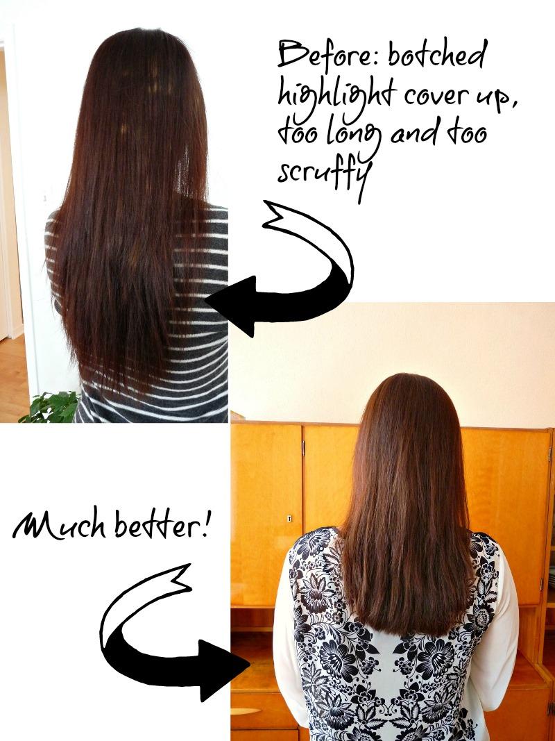 A botched hair dye job, fixed