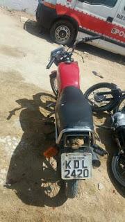 Moto furtada em Nova Floresta é recuperada em Cuité
