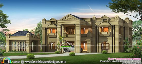 6 bedroom Colonial model luxury home design