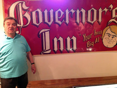 "Governor's Inn sign on display at the Lake Hopatcong Museum at Hopatcong State park with the club owner ""Big"" Al Kessel"