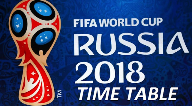 Fifa World Cup 2018 Match Schedule