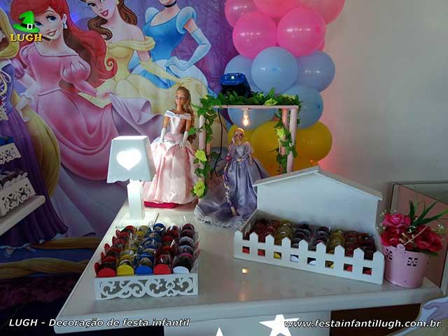 Decoração de aniversário Princesas Disney - Festa infantil