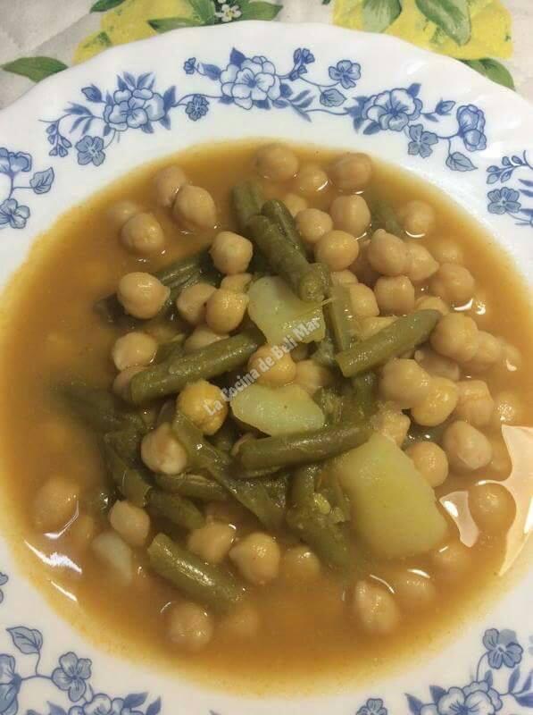 La cocina de beli mar potaje de garbanzos con judias verdes - Potaje de garbanzos y judias ...