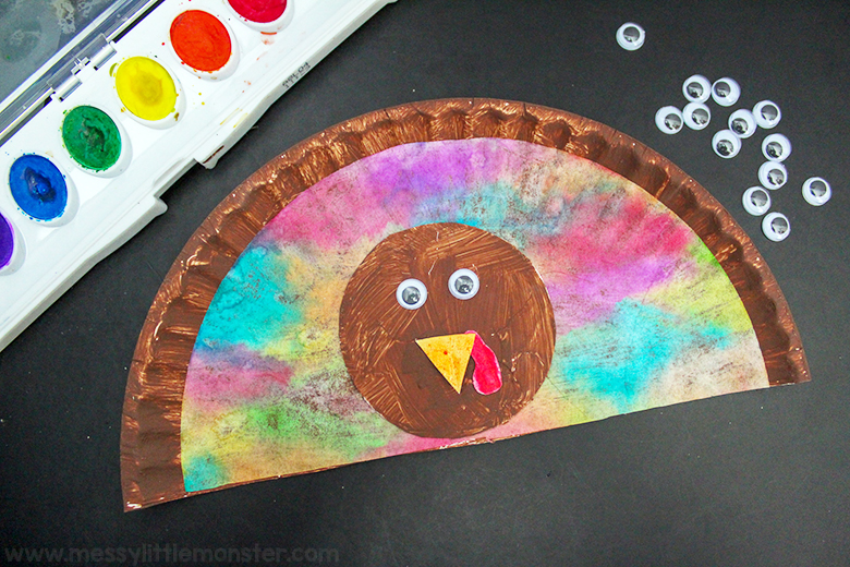 Thanksgiving crafts for kids - paper plate turkey craft