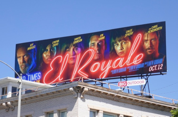 Bad Times at El Royale movie billboard