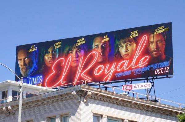 Bad Times at El Royale movie billboard