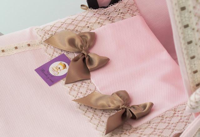saquito lencero capazo Bugaboo Camaleon rosa beige