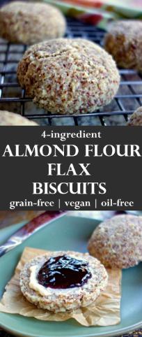 ALMOND-FLAX BISCUITS {GRAIN-FREE, OIL-FREE, VEGAN}