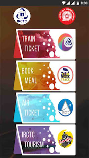 IRCTC Rail Connect Mobile Application First Screen