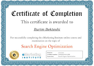 Online course for Search Engine Optimization by eMarketing Institute