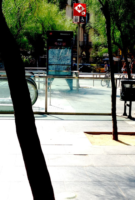 Boca de metro en Barcelona