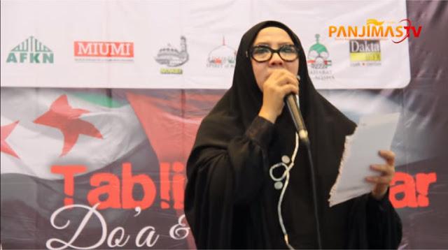 "VIDEO: Bikin Haru! Puisi Peggy Melati Sukma: ""Sebaik-baik Perempuan mungkin ada di Palestina"""
