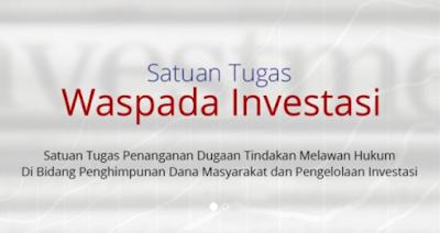 Satgas Juga Temukan 10 Entitas Penawaran Investasi Tanpa Izin
