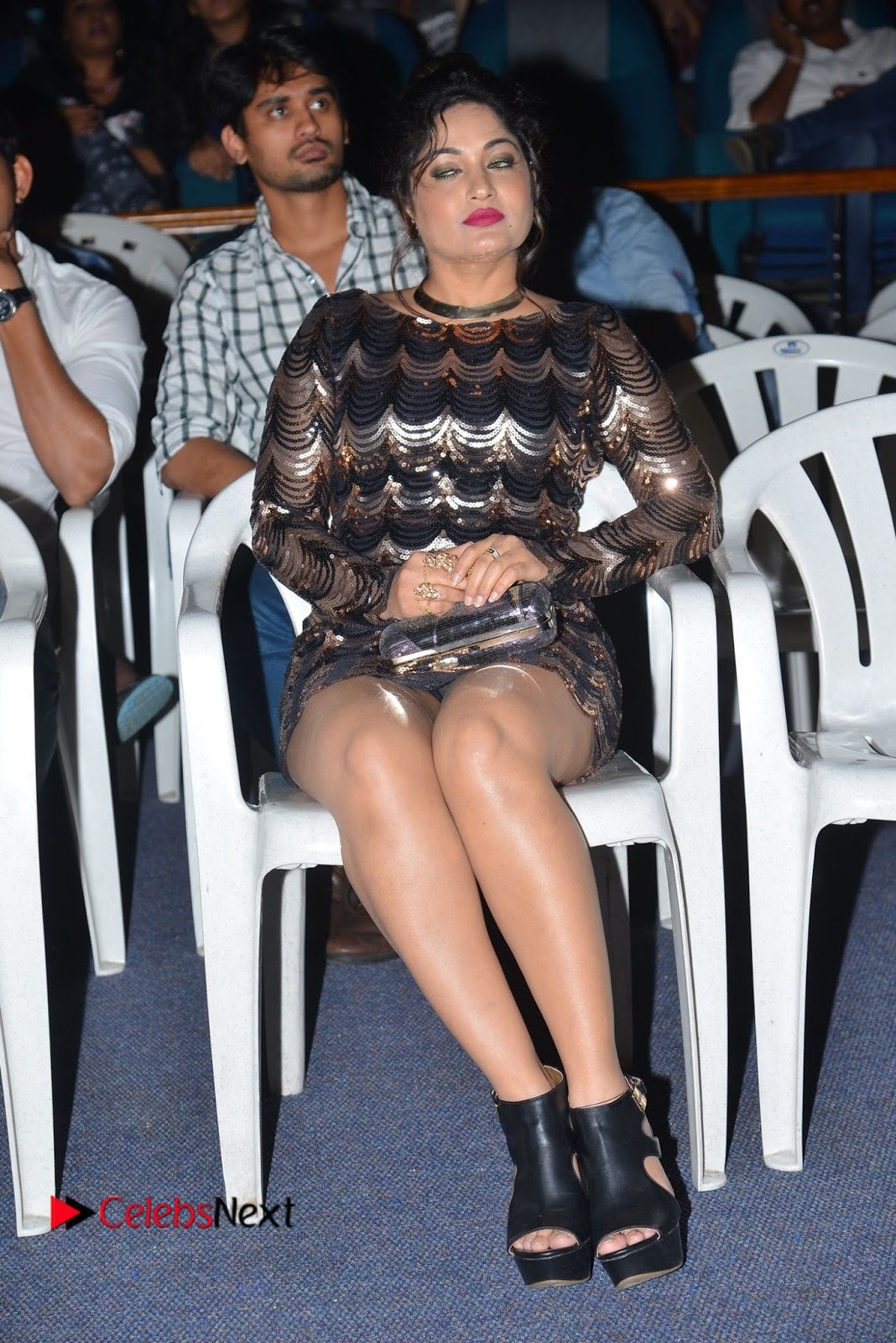 Actress Madhavi Latha  Pictures in Short Dress at On Mona Birthday Premiere  0061.JPG