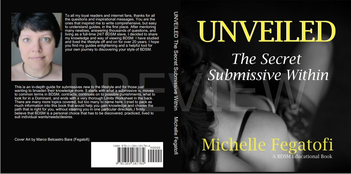 Unveiled, the secret submissive within - educational BDSM book cover