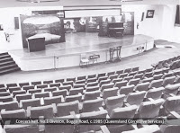 The concert hall in the new No.1 Division, Boggo Road Gaol, Brisbane, c.1985.