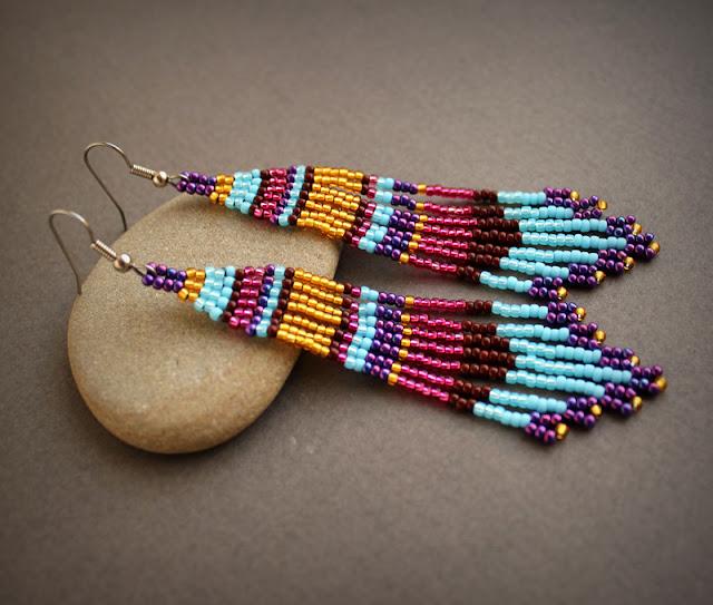 купить красивые длинные серьги этнические серьги купить