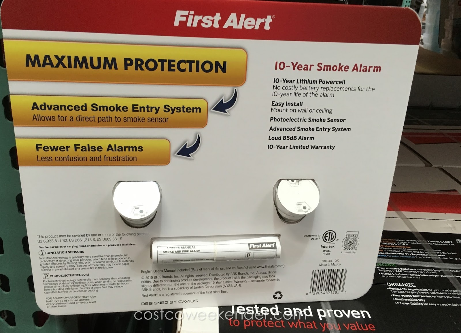 First Alert First Alert Atom 10 Year Smoke And Fire Alarms 2 Pk