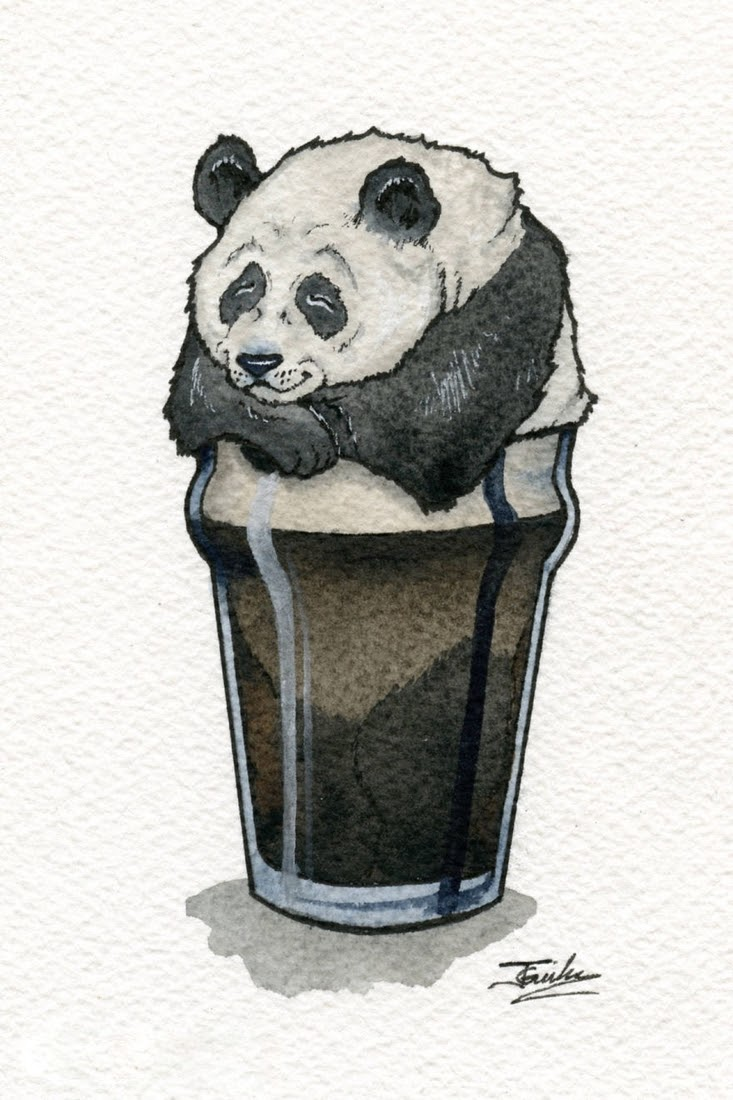 06-Pacified-Panda-Pacific-Porter-Jon-Guerdrum-Drawings-of-Surreal-Drinking-Visions-of-Animals-www-designstack-co