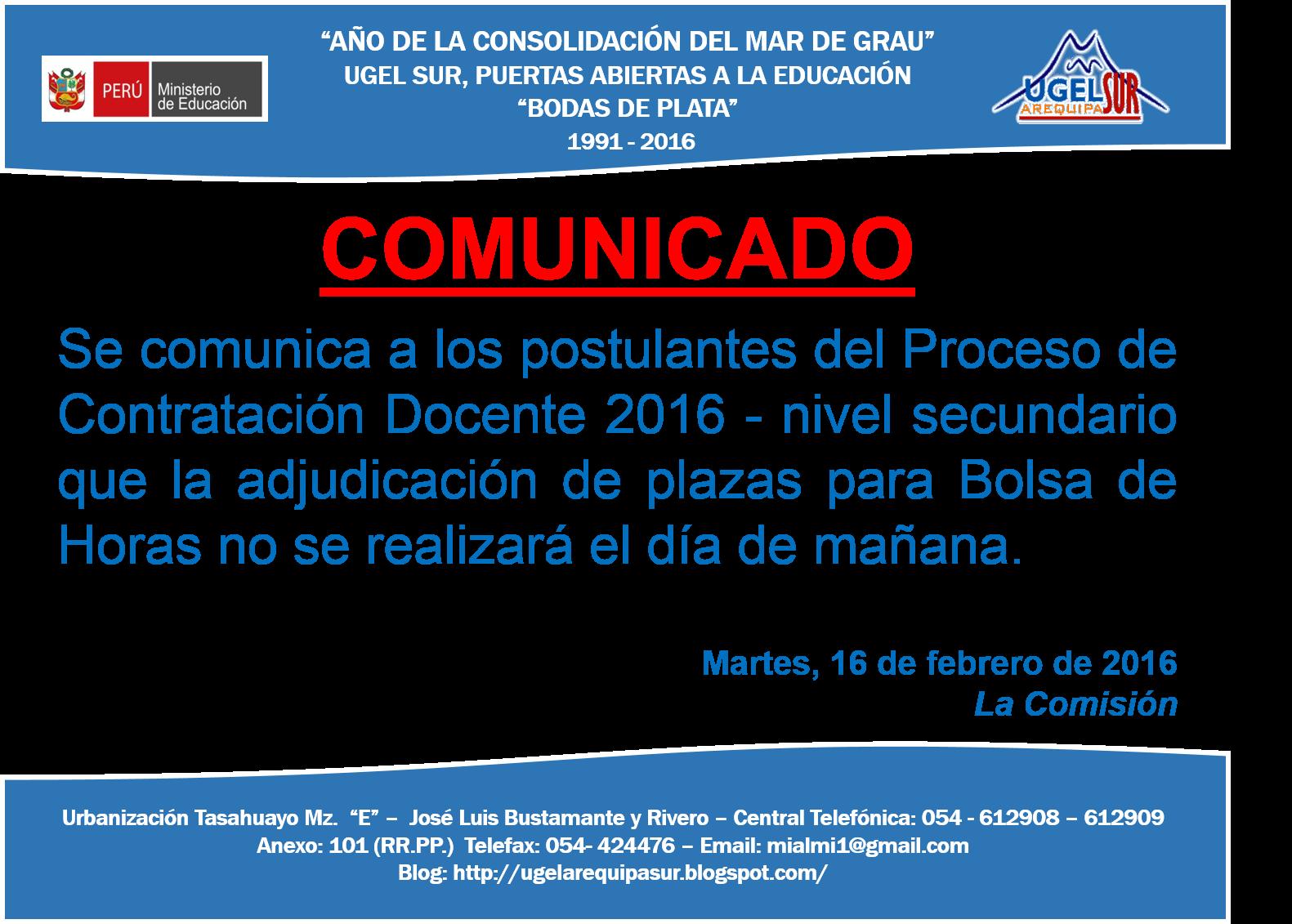 Contrato docente 2016 postergan adjudicaci n de plazas for Plazas de docentes 2016