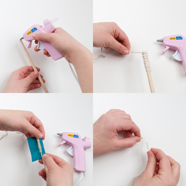 dowel felt glue gun magnetic step by step instructions watts and walsh