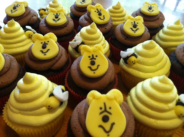 Kitchen Dunce Make Pooh Bear Cupcakes