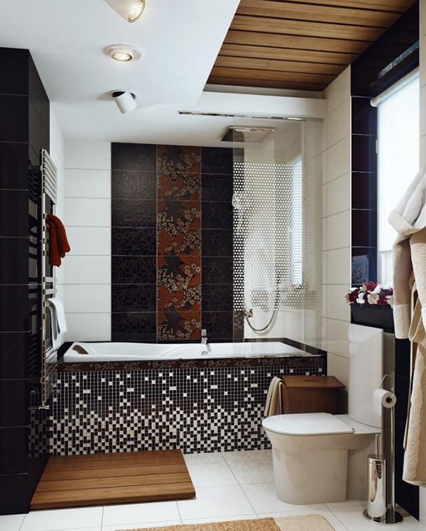 Ide Desain Dinding Kreatif Kamar Mandi