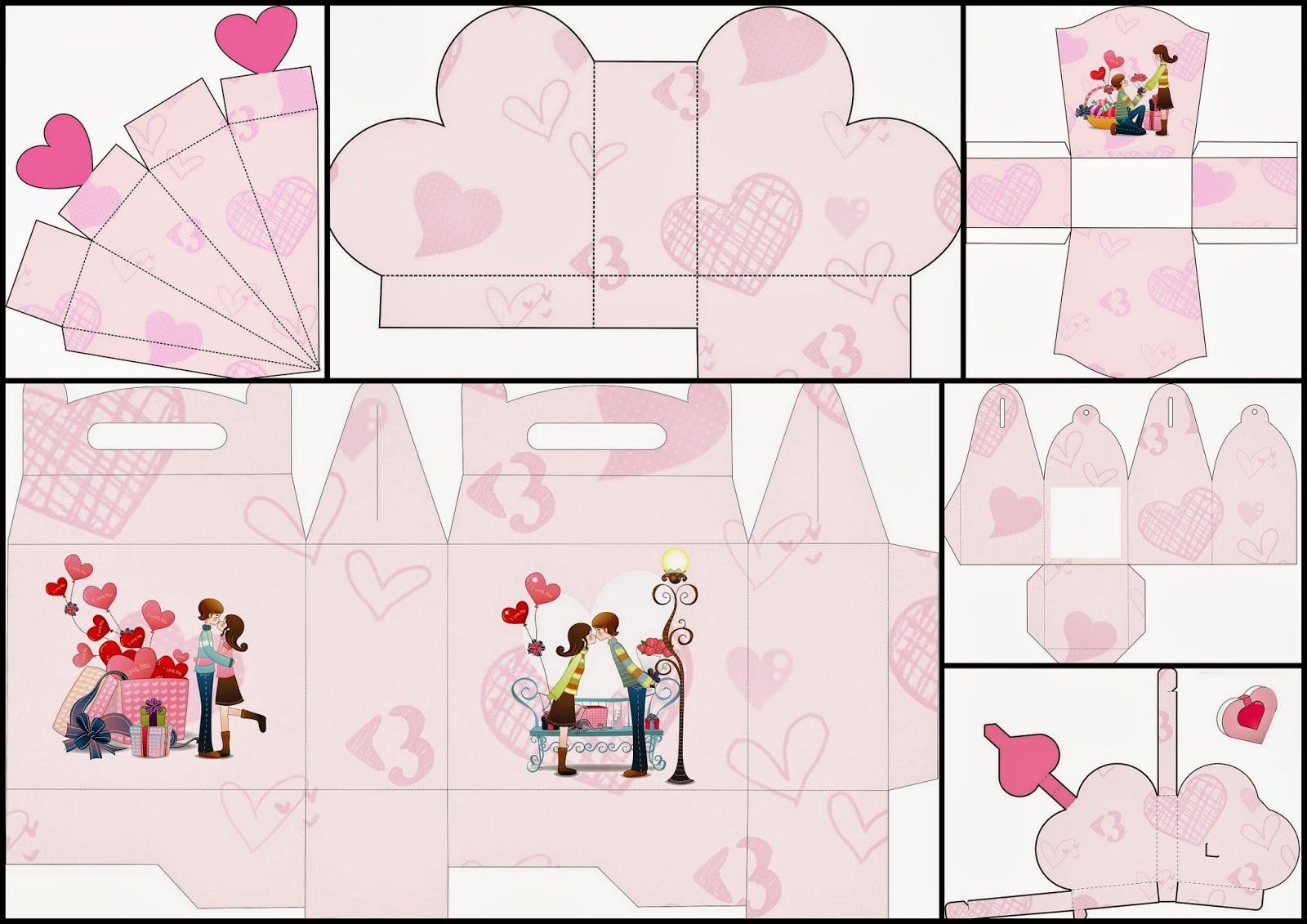 Valentine S Couple Free Printable Boxes