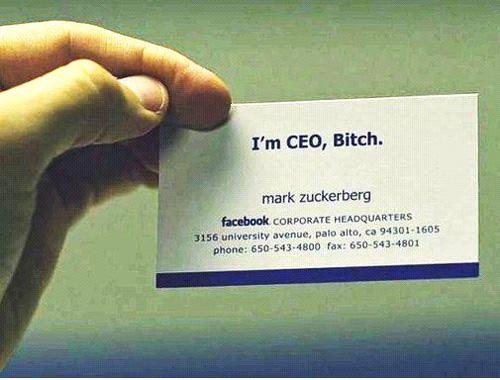 Facebook Old Business Card