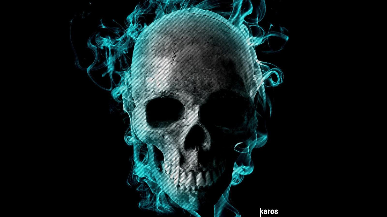 67 Flaming Skull Wallpaper