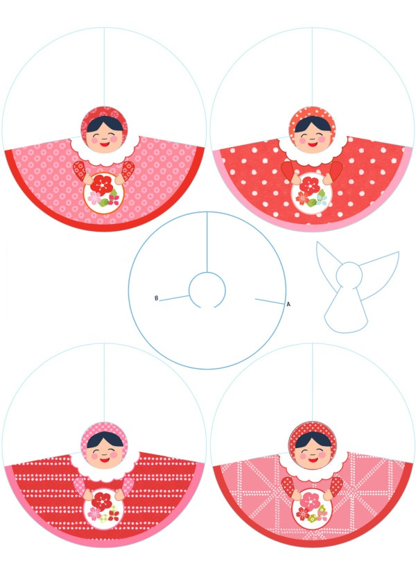 Angels nice free printables for a first communion for Angel tree decoration template