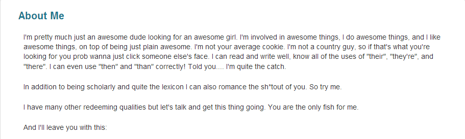 More than Cheese and Beer: Online Dating: I Just Don't Get It