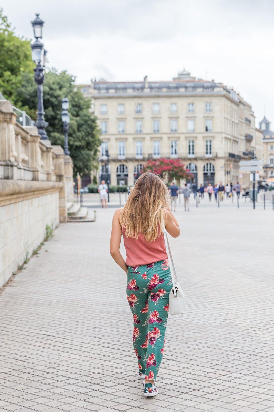 Pantalon motifs tropical soldé La Redoute