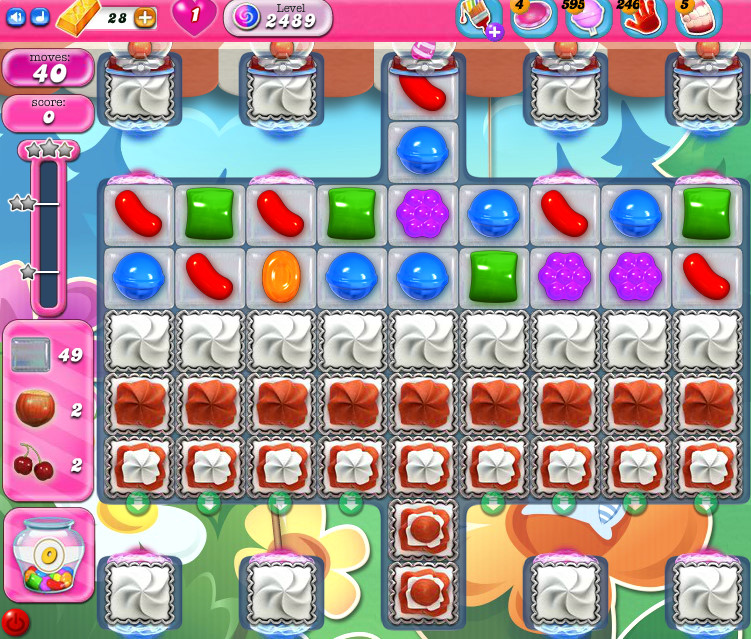 Candy Crush Saga level 2489