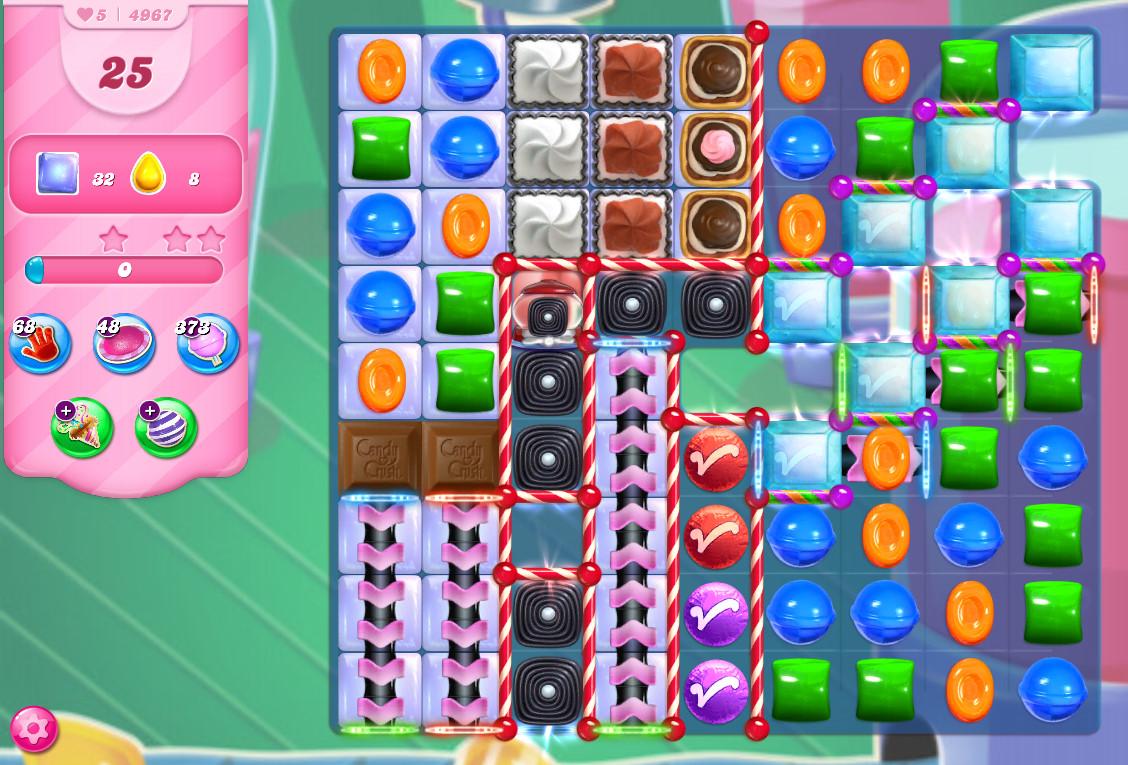 Candy Crush Saga level 4967