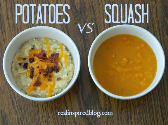 Real Inspired: A Tale of Two Soups-Potatoes vs Squash