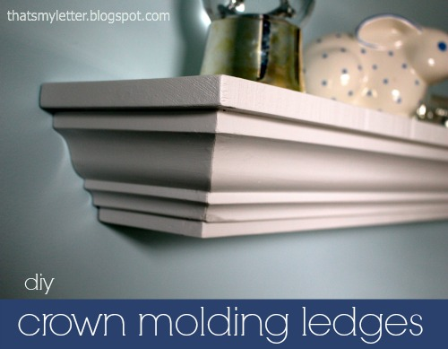 diy crown molding ledges